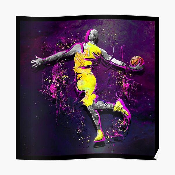 LA Lakers | GOAT | King James | Kobe Bryant | 24 Poster