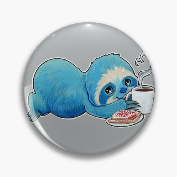 Coffee sloth Pin