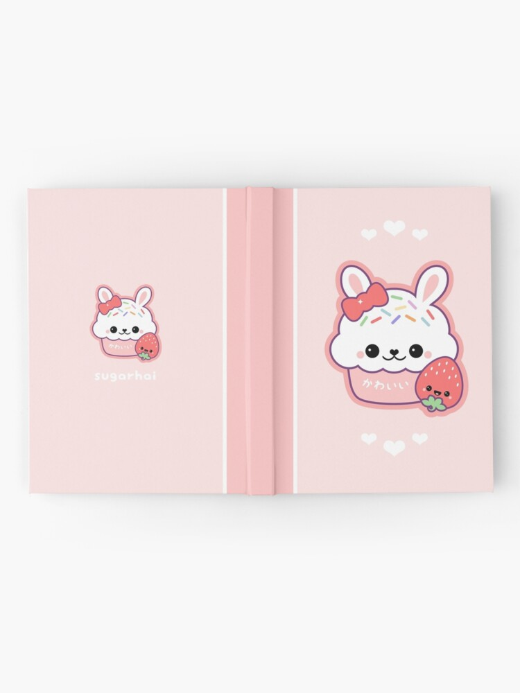 Alternate view of Cute Bunny Cake Hardcover Journal