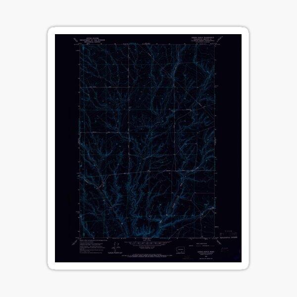 USGS Topo Map Washington State WA Lenzie Ranch 241978 1965 24000 Inverted Sticker