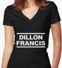 Dillon Francis Block Women's Fitted V-Neck T-Shirt