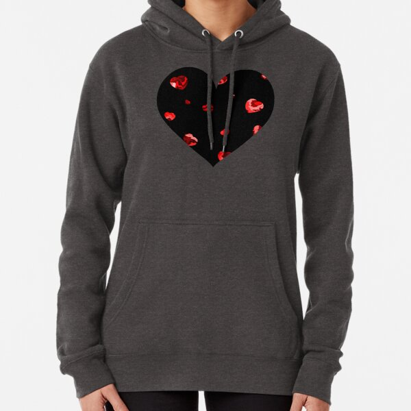 Chaotic Hearts, Dapple Series - Red Pullover Hoodie