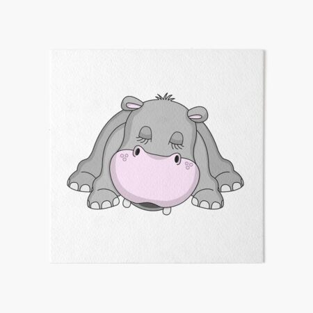 Handsome Hippo Art Board Print