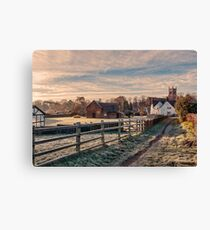 Landscape Cheshire Countryside Scenic View Canvas Print