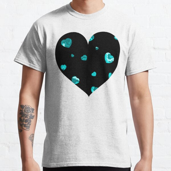 Chaotic Hearts, Dapple Series - Light Blue Classic T-Shirt