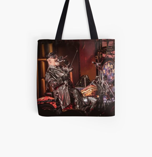 Rob Halford On Motorcycle (photograph) All Over Print Tote Bag