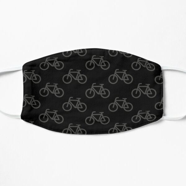 Bike Pattern (Grey and Black) Flat Mask