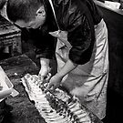 Maguro, I have a bone to pick with you - Japan by Norman Repacholi
