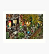 Backyard Accumulations Art Print