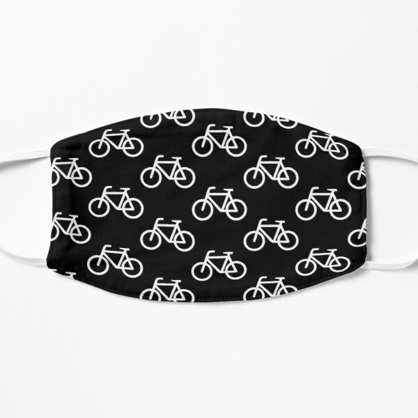 Bike Pattern (White and Black) Mask