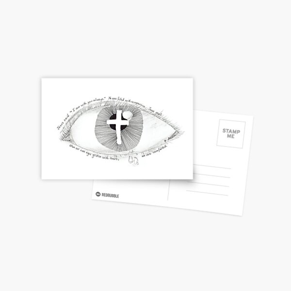 Compassion through the eyes of Jesus Postcard