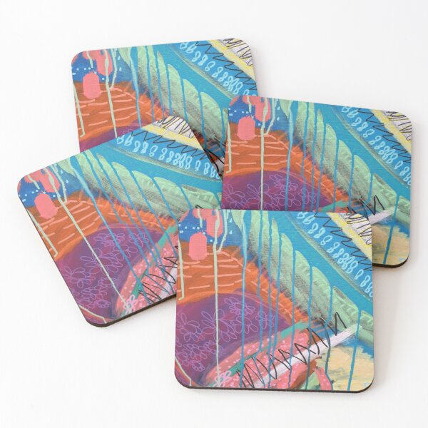 Funky and Fun 1 Coasters (Set of 4)