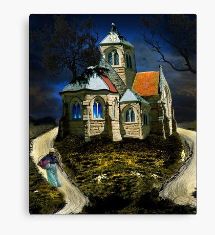 homage to van gogh's L'église d'Auvers-sur-Oise Canvas Print