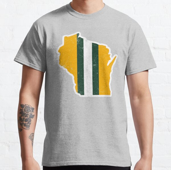 Wisconsin Helmet, Retro - Green Classic T-Shirt