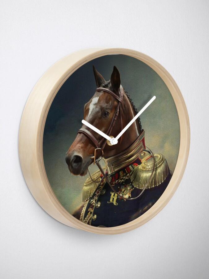 Alternate view of Horse Portrait Clock