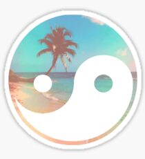 beach ying and yang Sticker