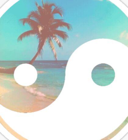 beach ying and yang Sticker