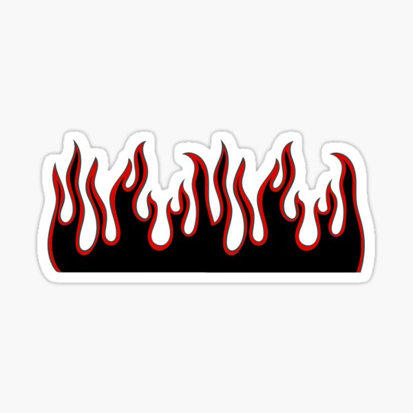 Red and Black Flames Sticker
