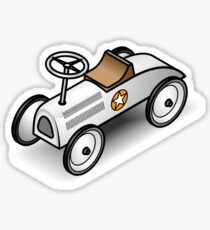 A retro vintage race cart. WIth drop shadow for a white shirt only. Sticker