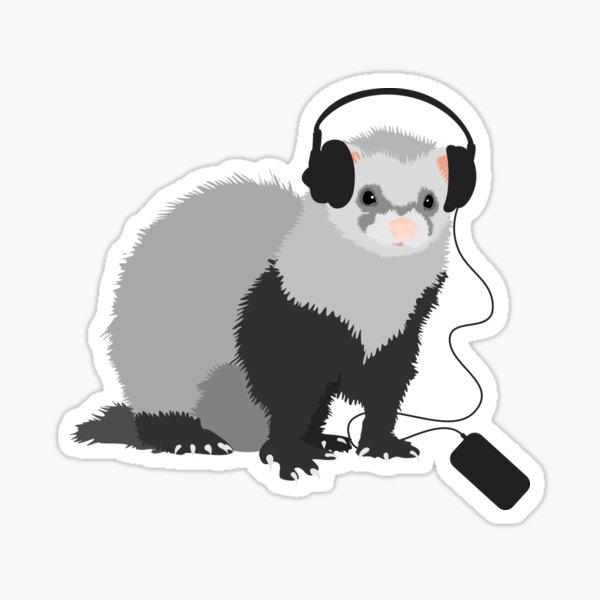 Funny Musical Ferret Sticker