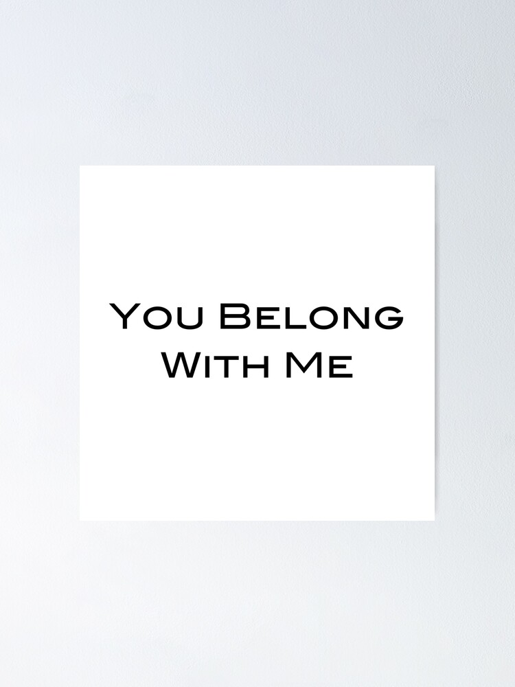 You Belong With Me Taylor Swift Song Fearless Album Poster By Bombalurina Redbubble