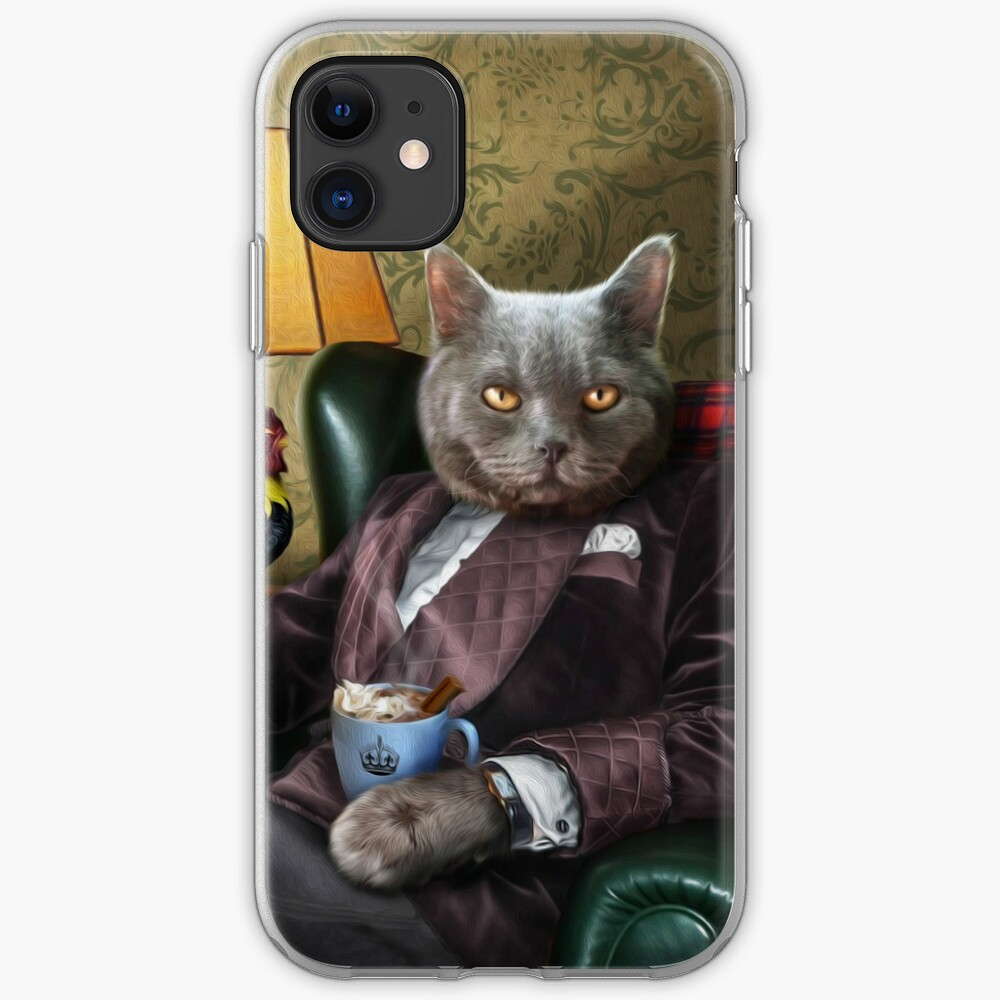 Persian Cat portrait - Finlay iPhone Case & Cover