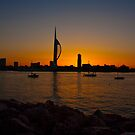 Sunrise at Portsmouth harbour by thermosoflask