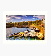 Crail Harbour (HDR Tilt Shift) Art Print