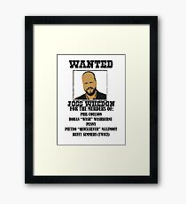 Joss Whedon: Wanted (2) Framed Print