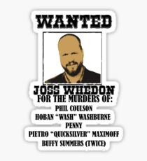 Joss Whedon: Wanted (2) Sticker
