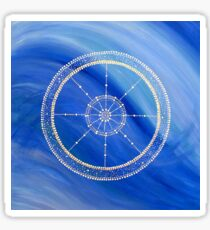 Mandala : Blue Wheel  Sticker