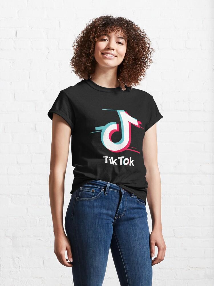 Alternate view of Tik Tok Glitch Classic T-Shirt