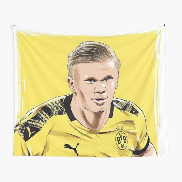 Erling Haaland Wallpaper Tapestries Redbubble