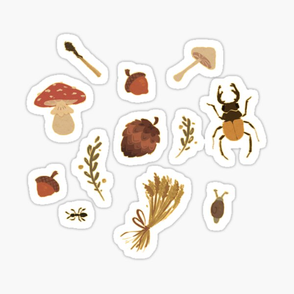 Woodlands Foraging Set Sticker