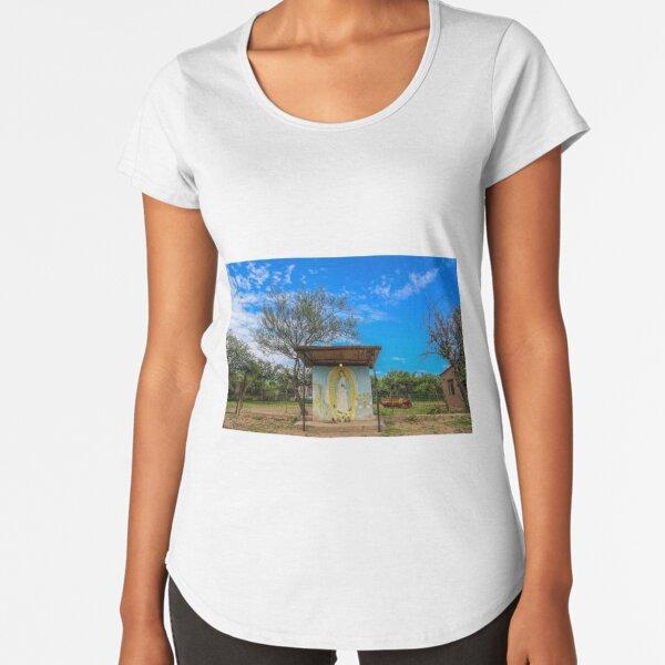 Virgen Maria Camiseta premium de cuello ancho