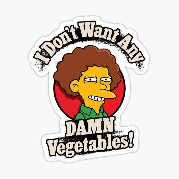 No quiero ninguna maldita verdura Pegatina