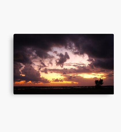 A storm moves in. Canvas Print