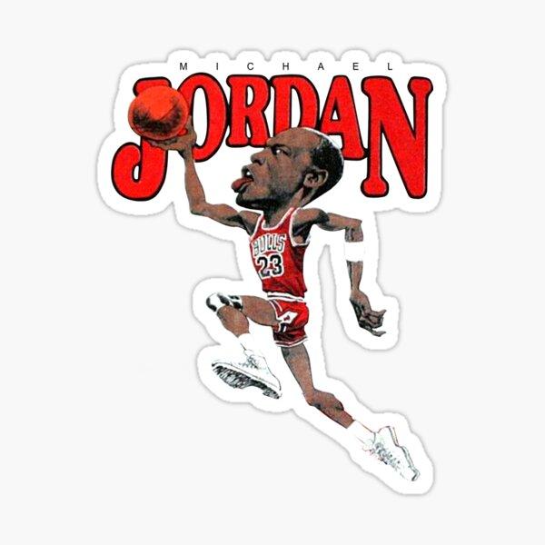 Vintage Michael JORDAN Caricature Sticker