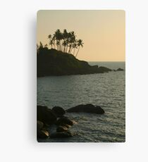 Palm Trees on the Point Palolem Canvas Print