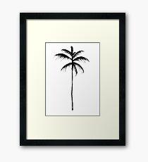 Palm Tree Illustration Framed Print