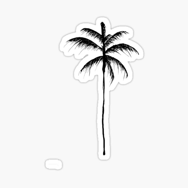 Palm Tree Illustration Sticker