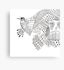 Bird and Howl creativity couple Canvas Print