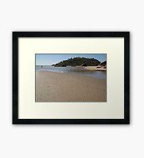 Walking Towards Monkey Island Palolem Framed Print