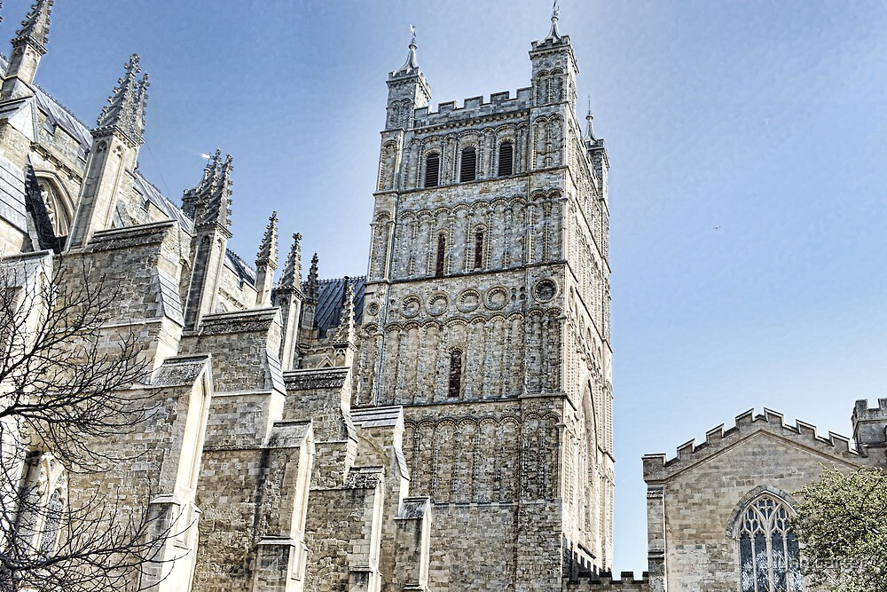 Part View Of Exeter Cathedral- Exeter, Devon by lynn carter