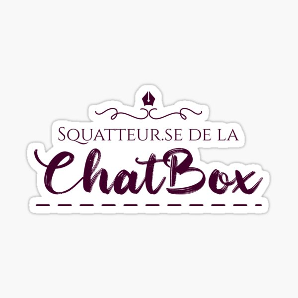 ChatBox Squatters Sticker