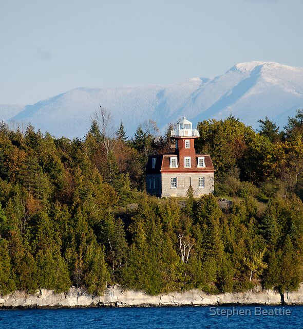 Valcour Island, Bluff Point Light, and Mount Mansfield by Stephen Beattie