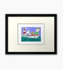 The Lighthouse Keeper Illustration  Framed Print