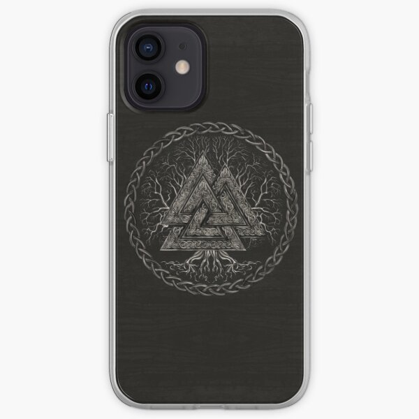 Valknut and Tree of Life Yggdrasil iPhone Soft Case