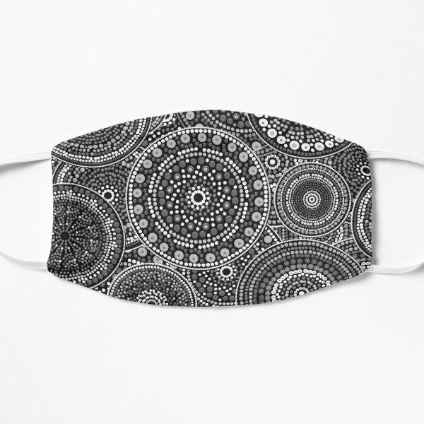 Dot Art Circles Grayscale Flat Mask