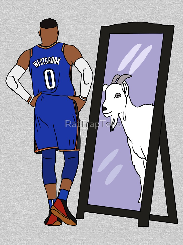 Russell Westbrook Mirror GOAT (Thunder) by RatTrapTees